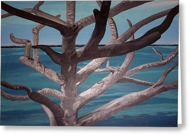 Tree And Beach Greeting Card