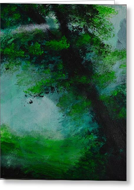 Tree And Mist Greeting Card by P Dwain Morris