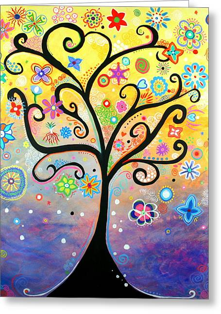 Tree Art Fantasy Abstract Greeting Card