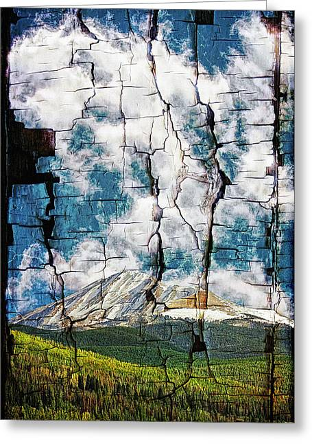 Tree Bark Mountain Tapestry Greeting Card