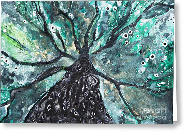 Tree Branches Above Greeting Card by Tara Thelen