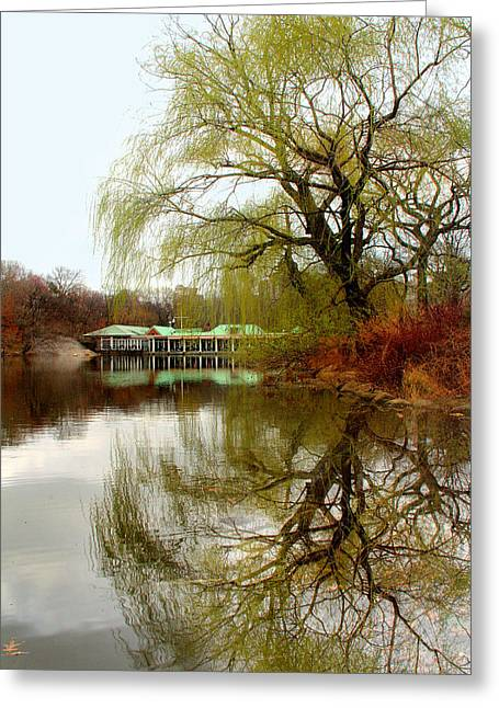 Tree By The River  Greeting Card by Mark Ashkenazi