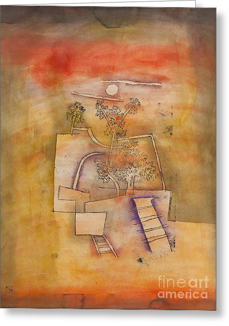 Tree Culture By Paul Klee Greeting Card