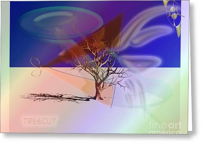 Tree Cut Greeting Card