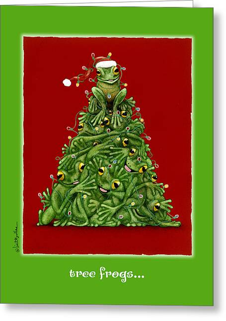 Tree Frogs... Greeting Card by Will Bullas