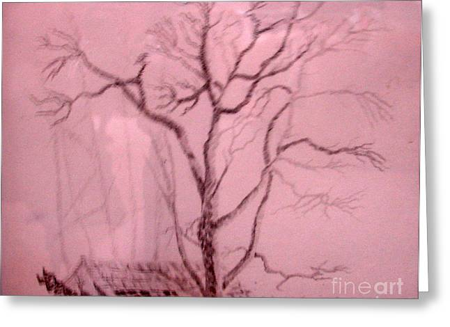 Tree Growing Out Of Barn Greeting Card by Joseph Hawkins