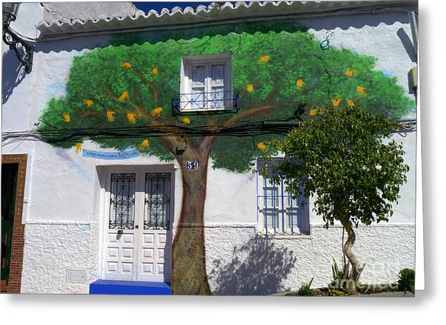 Tree House In Spain Greeting Card