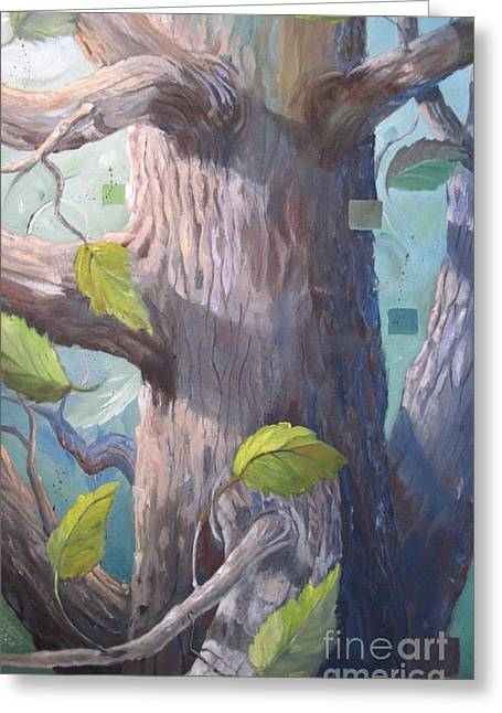 Tree Hugger Greeting Card by Paula Marsh