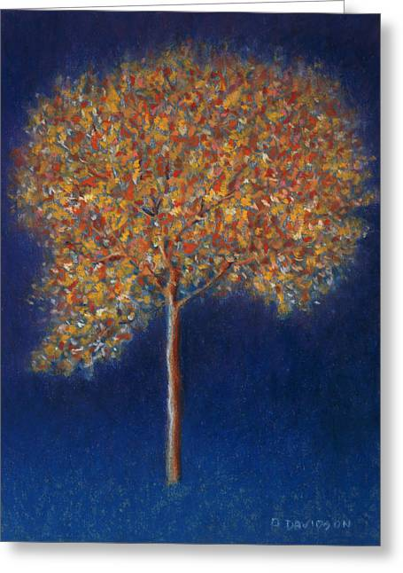 Tree In Blossom Greeting Card by Peter Davidson