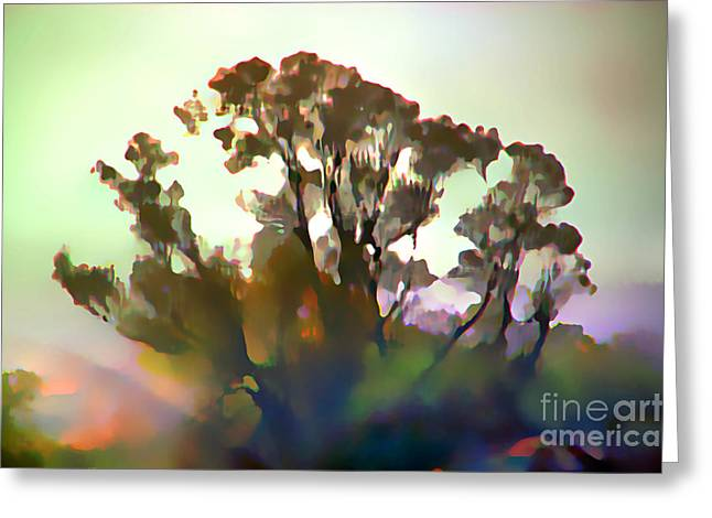 Tree In Colorful Spirit Greeting Card