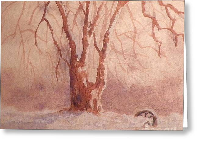 Tree In Snow Greeting Card
