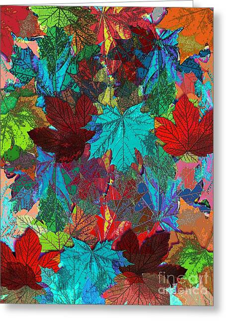 Tree Leaves Greeting Card by Klara Acel