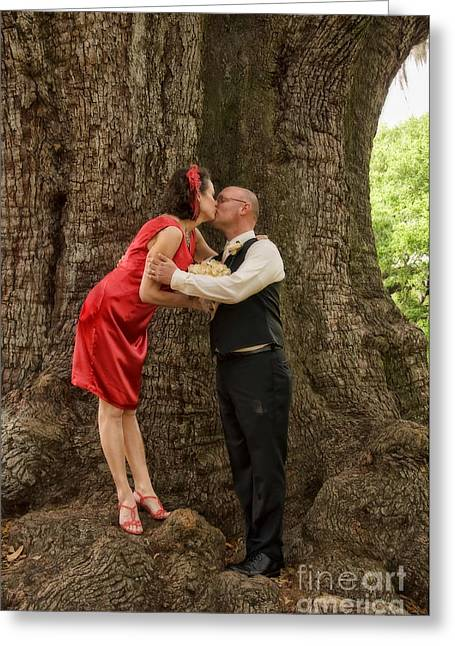 Tree Lovers- Bride And Groom Greeting Card by Kathleen K Parker