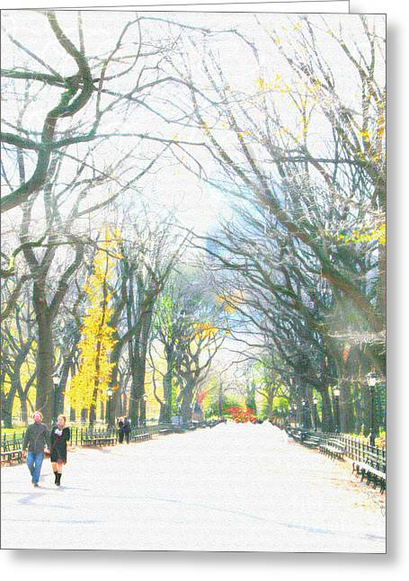 Tree Lovers Lane Greeting Card