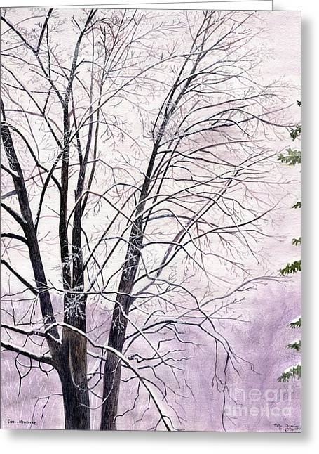 Greeting Card featuring the painting Tree Memories by Melly Terpening