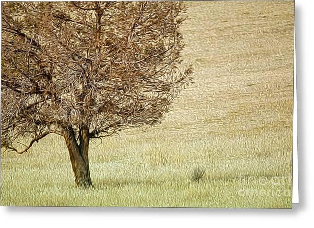 Tree Greeting Card by Nur Roy