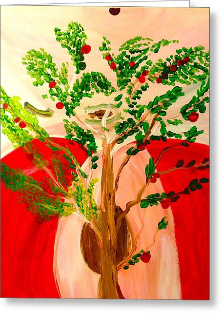Tree Of Apples Greeting Card by Pretchill Smith