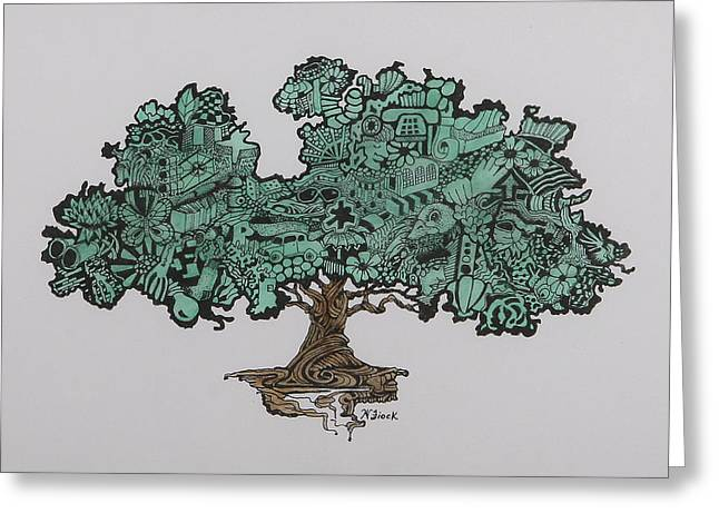 Tree Of Bounty Greeting Card by Wendell Fiock