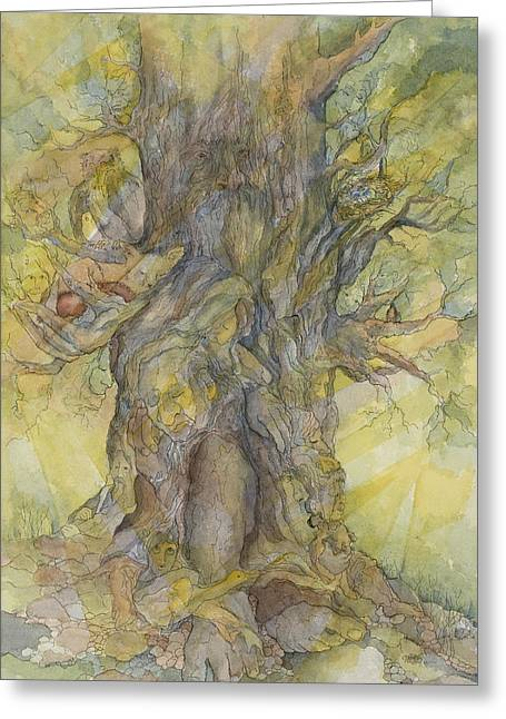 Tree Of Comfort Greeting Card by Glenda Roach