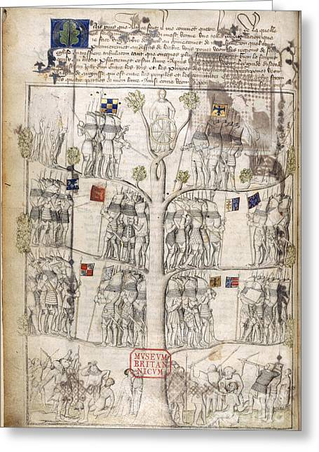 Tree Of Fortune Greeting Card by British Library