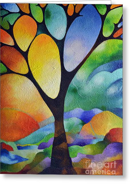 Tree Of Joy Greeting Card