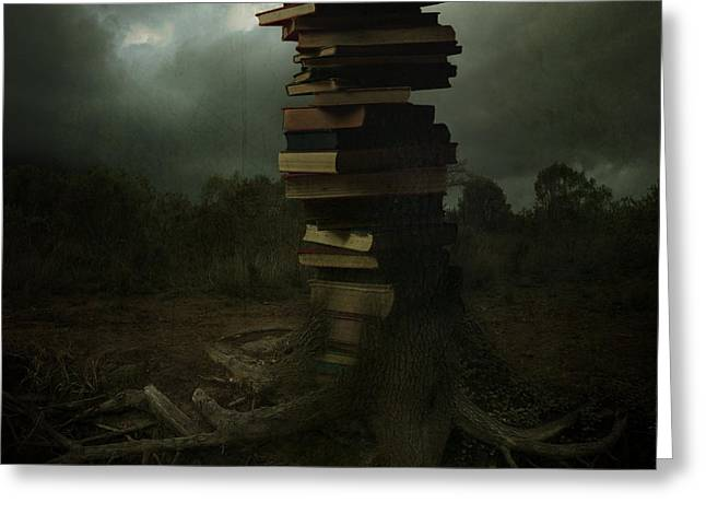 Tree Of Knowledge Greeting Card by Fern Evans