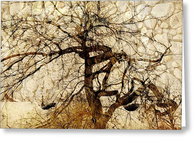 Tree Of Life  Greeting Card by Ann Powell