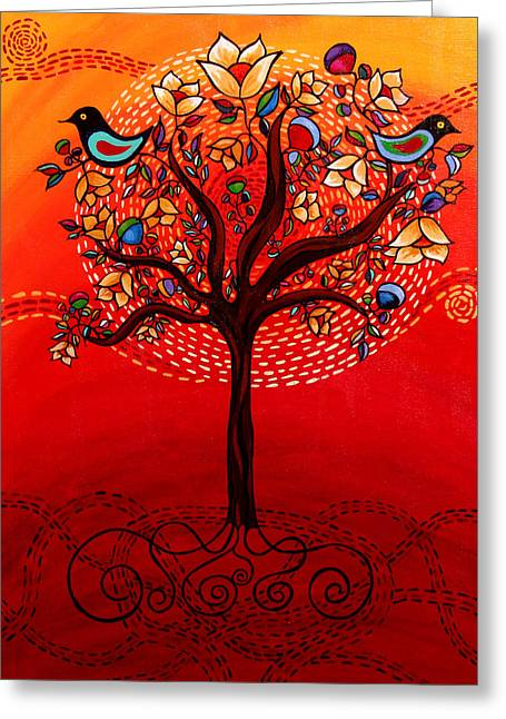 Tree Of Life Greeting Card by Catherine Barry
