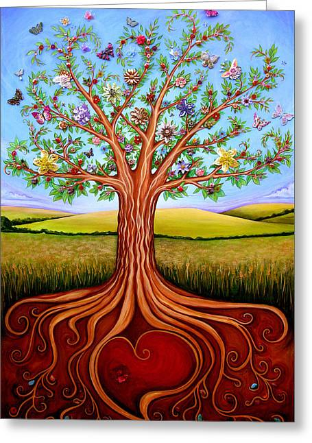 The Tree Of Life Greeting Card by Claire Johnson