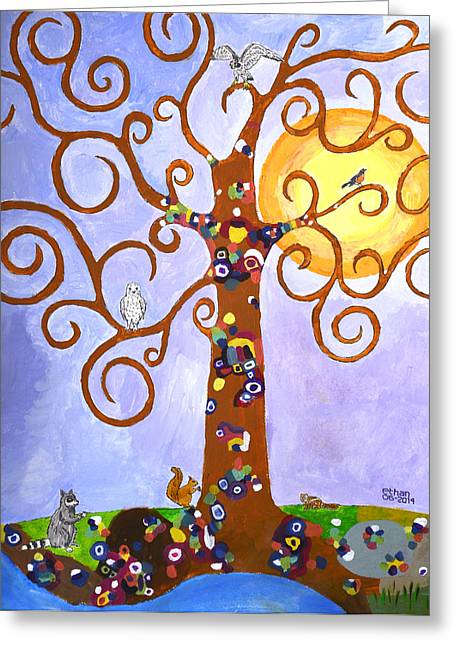 Gustav Klimt Tree Of Life Greeting Card by Ethan Altshuler