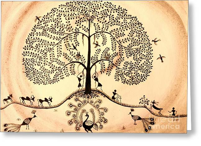 Tree Of Life II Greeting Card by Anjali Vaidya