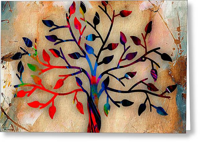 Tree Of Life Painting Greeting Card