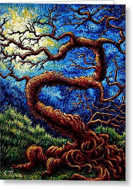 Tree Of Life Greeting Card by Sebastian Pierre