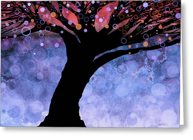 Tree Of Life Three Greeting Card by Ann Powell