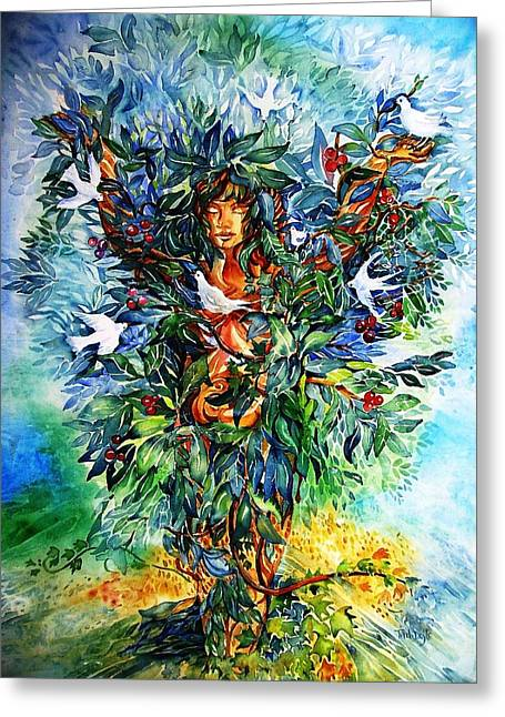 Tree Of Life  Greeting Card by Trudi Doyle