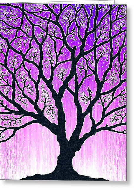 Greeting Card featuring the digital art Tree Of Light 2 by Cristophers Dream Artistry