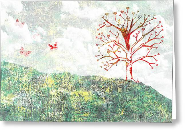 Tree Of Love Greeting Card by Aged Pixel