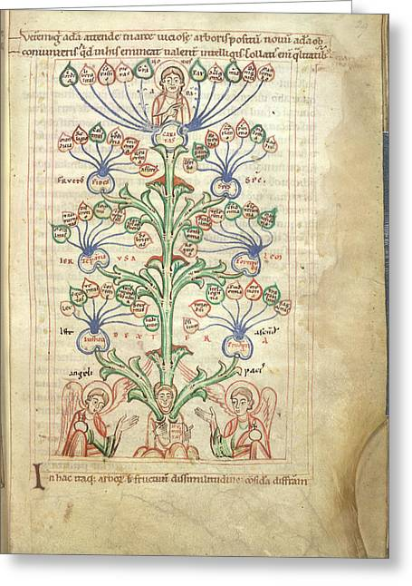Tree Of Virtues Greeting Card by British Library