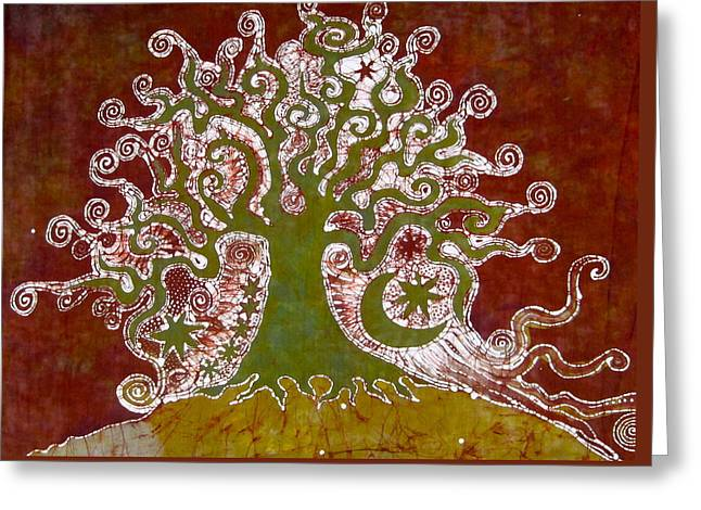 Tree On A Hill Greeting Card by Victoria Dresdner