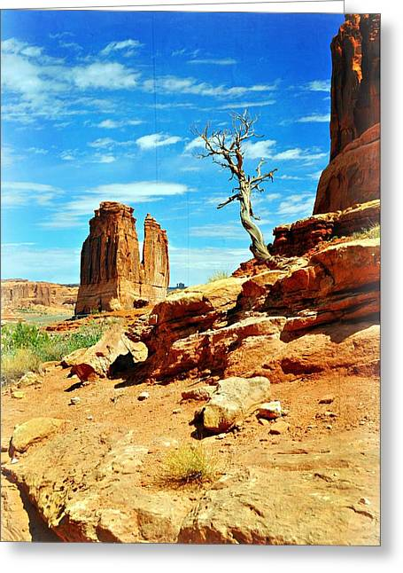 Tree On Park Avenue Greeting Card by Marty Koch