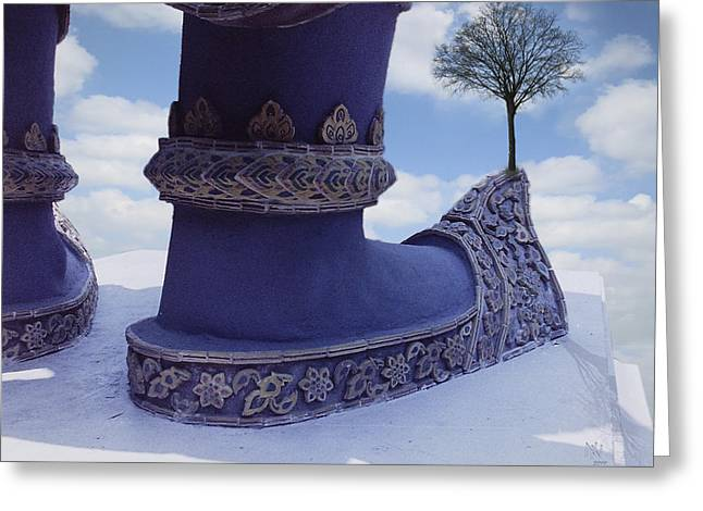 Tree On Shoe Greeting Card