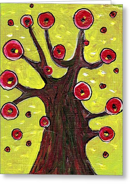 Print Card Jewelry Greeting Cards - Tree Sentry Greeting Card by Anastasiya Malakhova