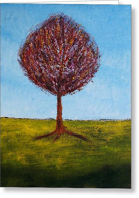 Greeting Card featuring the painting Tree Solo by Zeke Nord