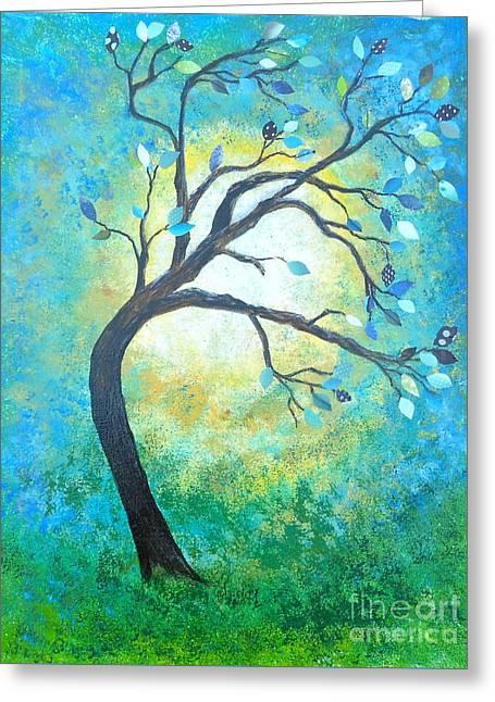 Tree Tango Greeting Card
