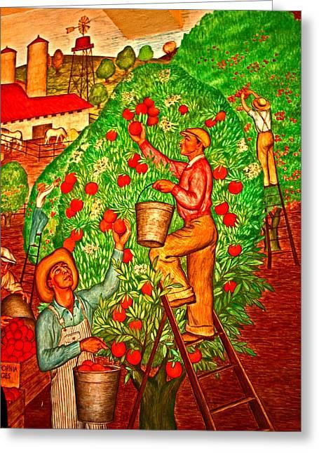 Tree Top Harvest Greeting Card