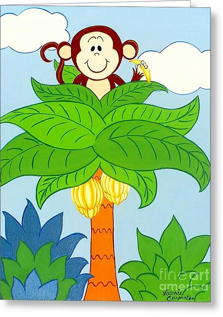 Tree Top Monkey Greeting Card