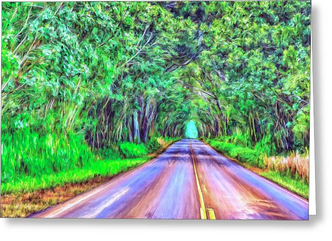 Tree Tunnel Kauai Greeting Card