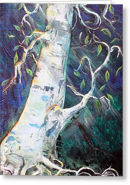 Tree Greeting Card by Valerie Wolf