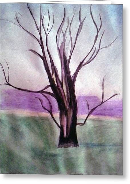 Tree Watercolor Greeting Card