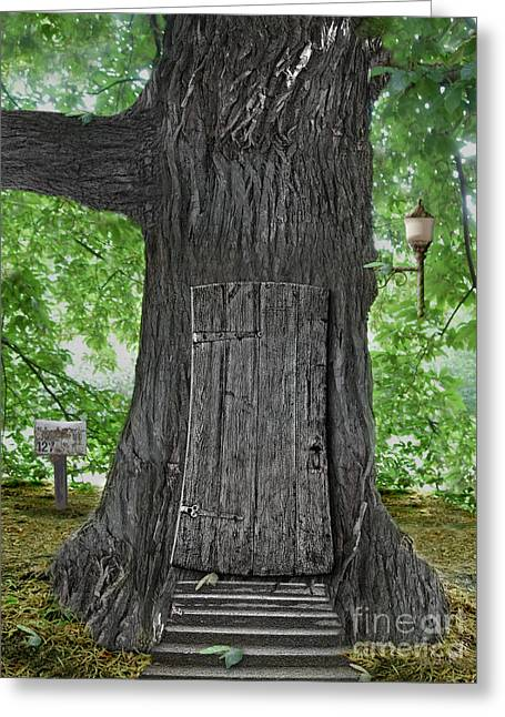 Treehouse Door Greeting Card by Mike Agliolo